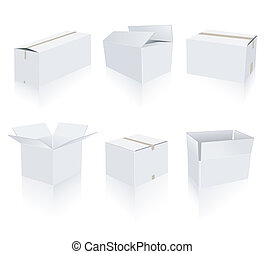 blanco, cajas