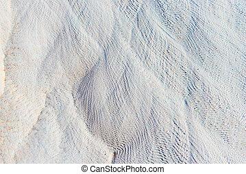 blanco, cal, primer plano, depósitos, pamukkale