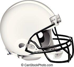 blanco, casco fútbol