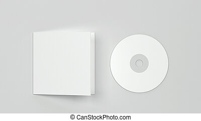 blanco, cd, compacto, cubierta, mockup