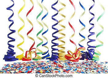 blanco, celebración, carnaval