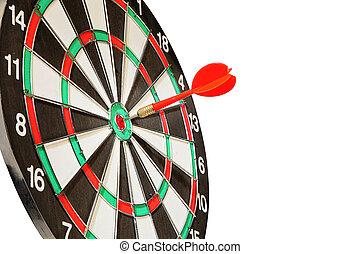 blanco, centro, blanco, flecha, dardos