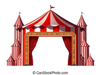 blanco, circo, etapa, espacio