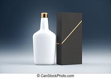 blanco, coñac, botella
