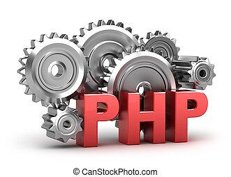 blanco, concepto, codificación, php