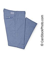 blanco, concepto, moda, pantalones