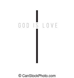 blanco, cristiano, dios, símbolo., aislado, plano de fondo,...