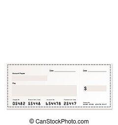 blanco, dólar, cheque