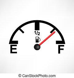 blanco, depósito de gasolina, ilustración