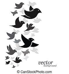 blanco, diseño, pájaro, Plano de fondo