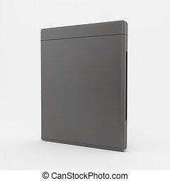 blanco, dvd-case, o, cd-case., 3d, vector, illustration.