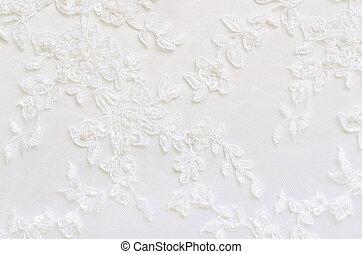 blanco, encaje, boda