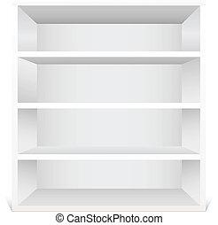 blanco, estante