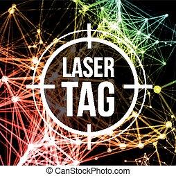 blanco, etiqueta, laser