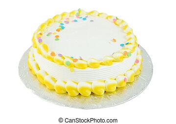blanco, festivo, pastel