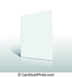 blanco, folleto, diseño