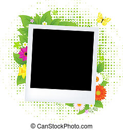 blanco, foto, con, flor