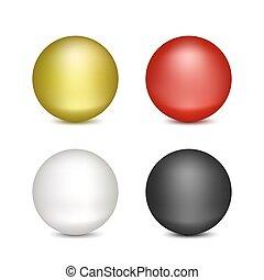 blanco, globos, fondo coloreado