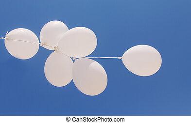 blanco, globos