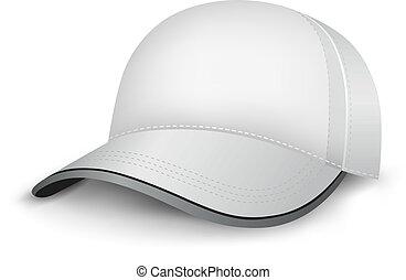blanco, gorra