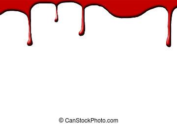 blanco, gotas, sangre, plano de fondo