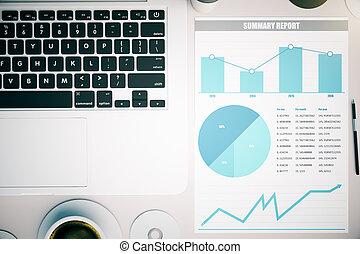 blanco, gráfico, empresa / negocio