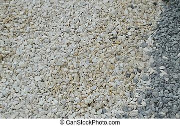 blanco, guijarro, plano de fondo, con, pequeño, redondo, piedras