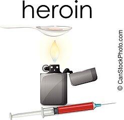 blanco, heroína, plano de fondo