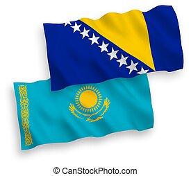 blanco, herzegovina, bosnia, banderas, plano de fondo, ...