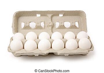 blanco, huevos