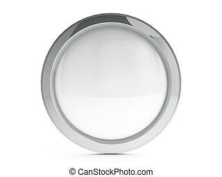 blanco, icono, con, toque de luz