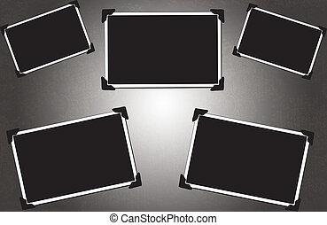 blanco, imagen, con, foto, esquinas