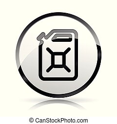 blanco, jerrycan, plano de fondo, icono