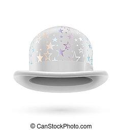 blanco, jugador de bolos sombrero, starred
