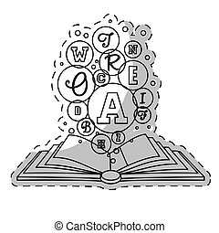 blanco, libro, abierto, a, conocimiento, imagen