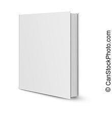 blanco, libro, cubierta, blanco