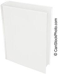 blanco, libro duro cubierta
