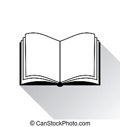 blanco, libro, plano de fondo, icono