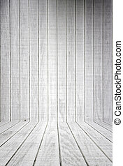 blanco, madera, tablones, con, piso