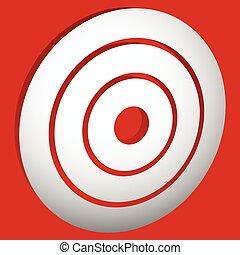 blanco, marca, (bullseye), /, círculos concéntricos, anillos, icono