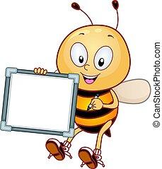 blanco, mascota, tabla, abeja, blanco