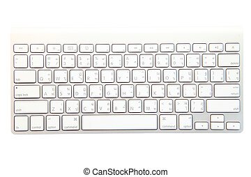 blanco, moderno, teclado