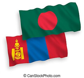 blanco, mongolia, banderas, bangladesh, plano de fondo