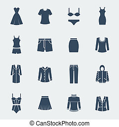 blanco, mujer, moda, aislado, ropa