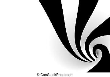 blanco, negro, espiral