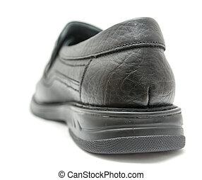 blanco, negro, shoes, plano de fondo