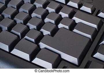 blanco, negro, teclado