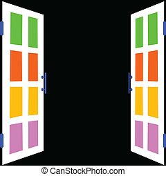 blanco, negro, ventana, plano de fondo