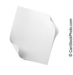 blanco, note papel, mensaje, etiqueta, empresa / negocio