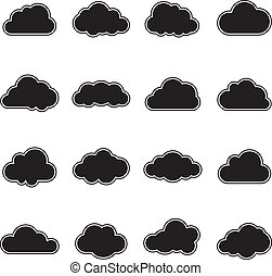 blanco, nube negra
